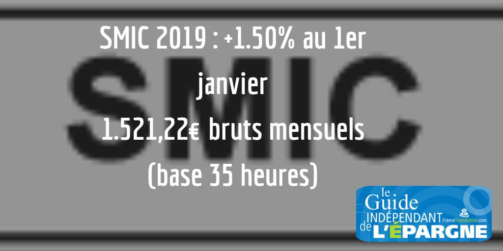 Smic Horaire Taux 2019 Salaire Minimum