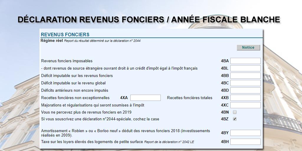 Comment Declarer Ses Revenus Fonciers 2018 Impots 2019 Annee