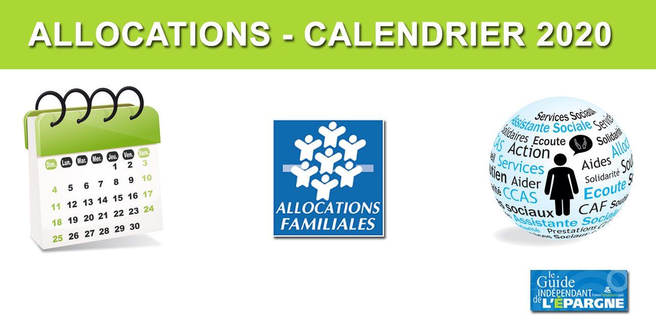 Calendrier Paiement Rsa 2019.Caf Calendrier 2020 Du Versement Des Allocations