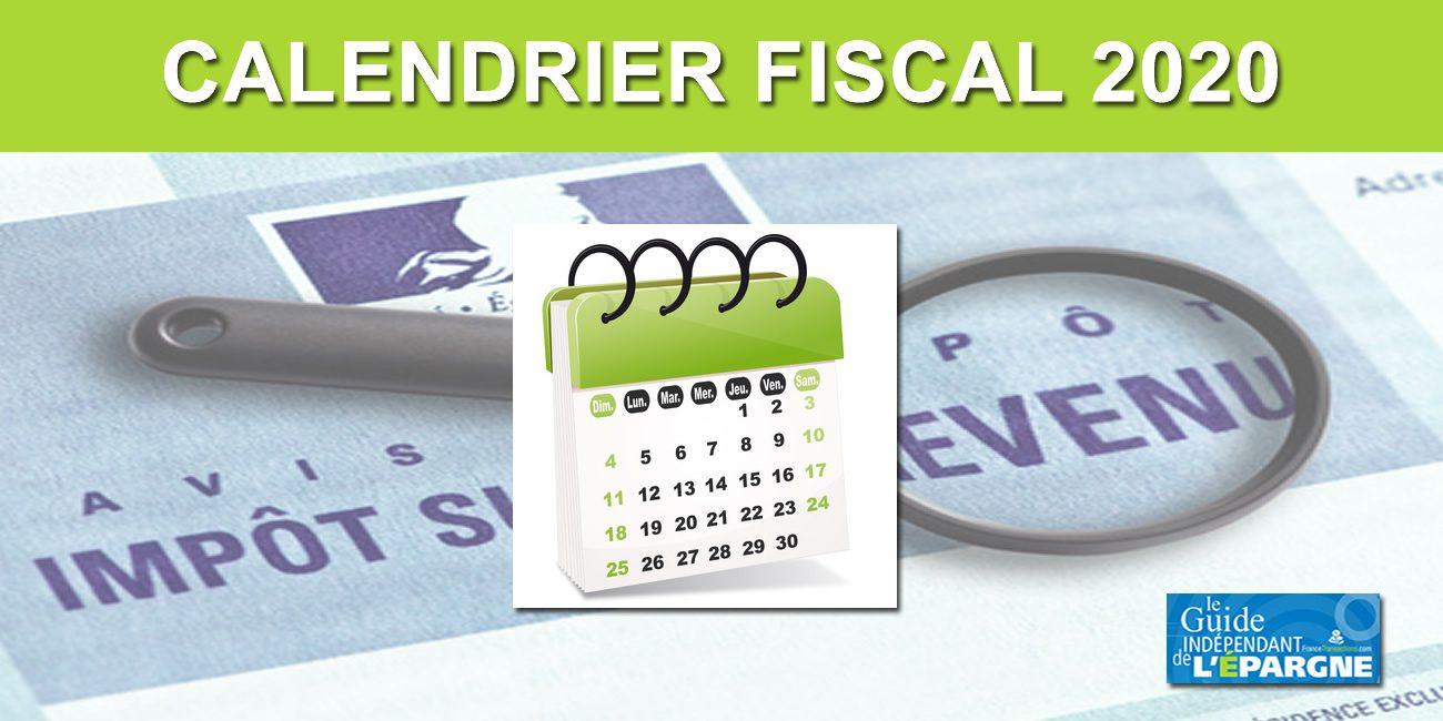 Calendrier Fiscal 2021 Calendrier fiscal 2020 : Calendriers