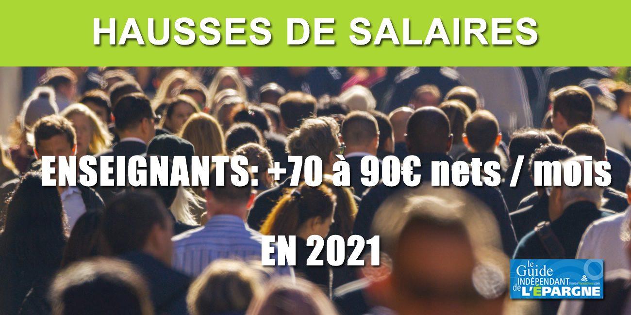 Calendrier Salaire Prof 2021 Hausse des salaires des enseignants dès 2021, entre 70 et 90€ nets