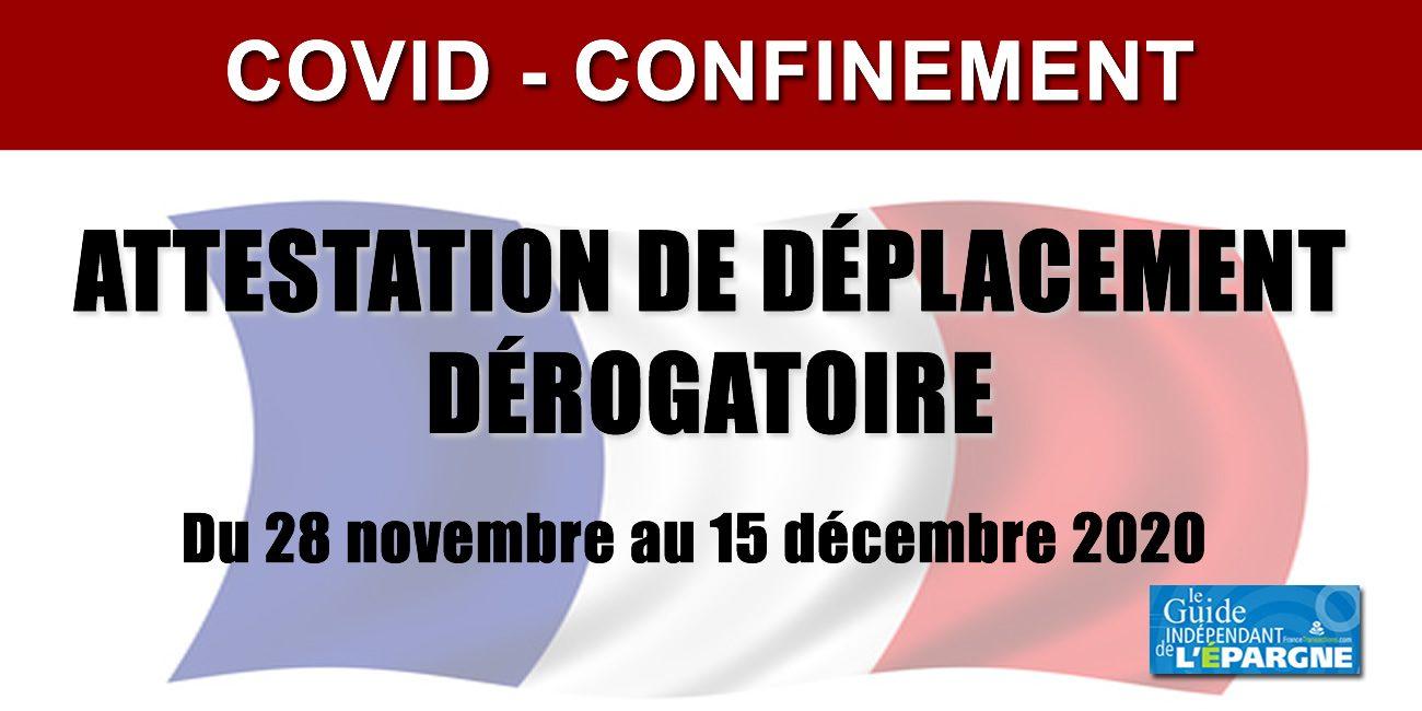 Deconfinement Covid Attestation De Sortie Deplacement A Compter Du 15 Decembre 2020 Actualites Socio Economiques
