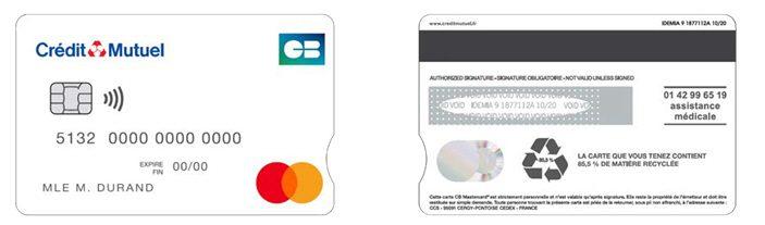 Première Carte Bancaire en PVC recyclé proposée par le Crédit Mutuel Alliance Fédérale
