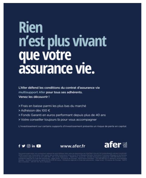 Campagne de communication AFER Septembre 2019