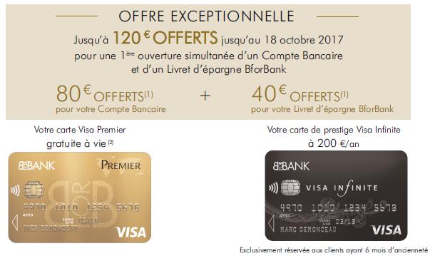 BforBank : jusqu'à 120€ offerts aux nouveaux clients, à saisir avant le 18 octobre
