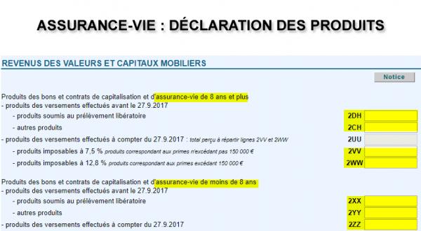 Assurance Vie Déclaration De Revenus 2018 Impôt 2019