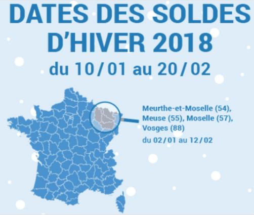 5588ba9982d017 Calendrier des soldes d'hiver 2018, début le 10 janvier 2018 ...